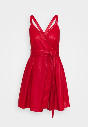 CREATIVO ABITO SIMILPELLE - Day dress - red