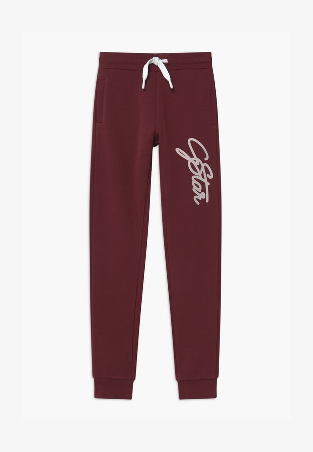 Tracksuit bottoms - port red