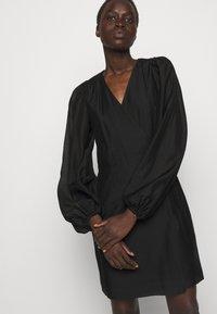 DESIGNERS REMIX - SONIA WRAP DRESS - Day dress - black - 5