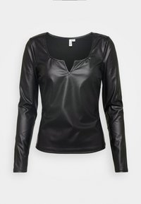 Nly by Nelly - V FRONT - Blouse - black - 3