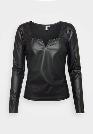 V FRONT - Bluse - black