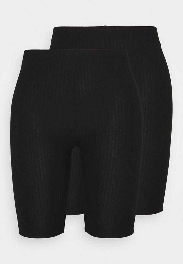 ONLNELLA BIKE SHORTS 2-PACK TALL - Shorts - black