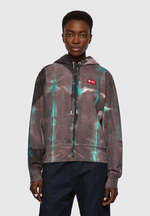 Zip-up sweatshirt - dark violet