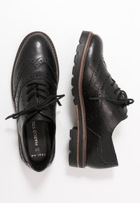 Marco Tozzi - LACE UP - Lace-ups - black antic - 3