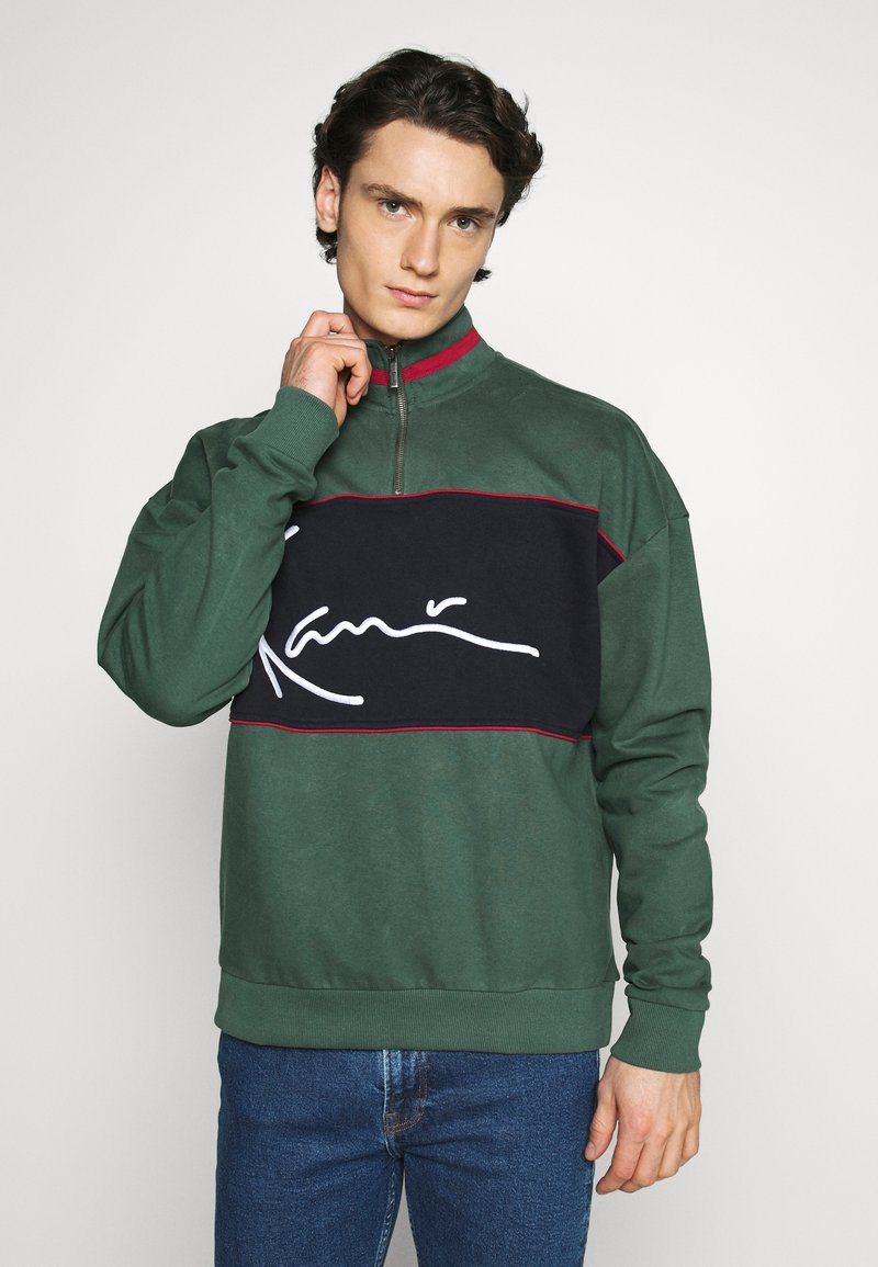 Karl Kani - SIGNATURE BLOCK TROYER - Sweatshirt - green