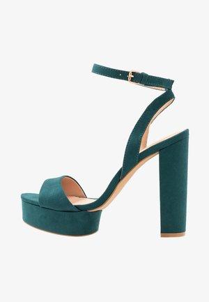 Højhælede sandaletter / Højhælede sandaler - green