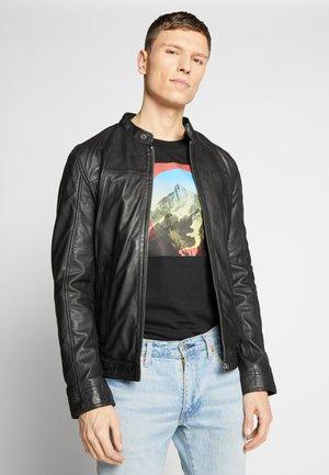 Leren jas - black