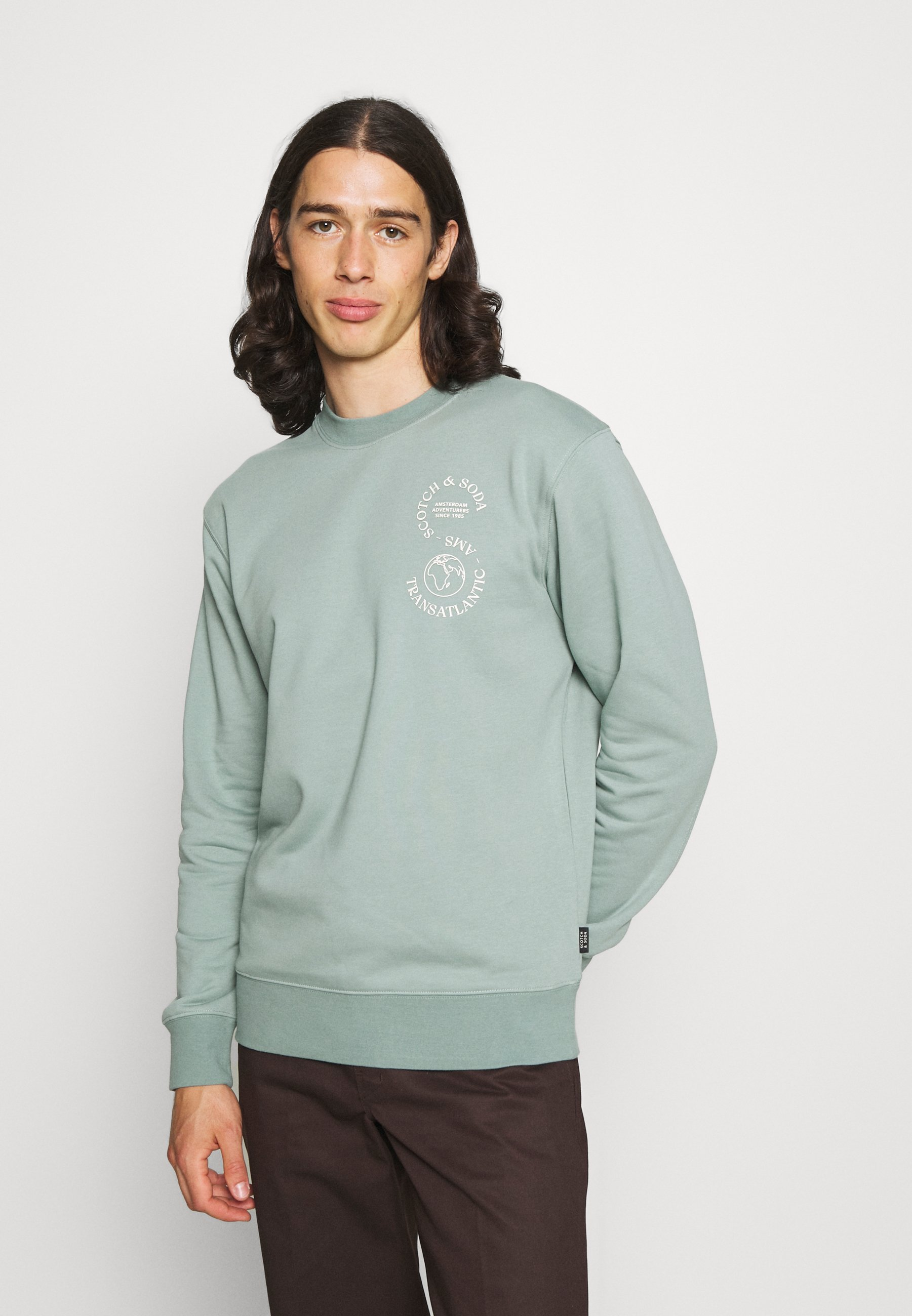 Men FELPA CREWNECK WITH CHEST ARTWORK - Sweatshirt