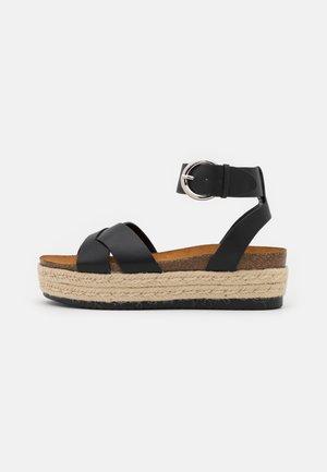 ONLMAUVE WRAP  - Sandalen met plateauzool - black
