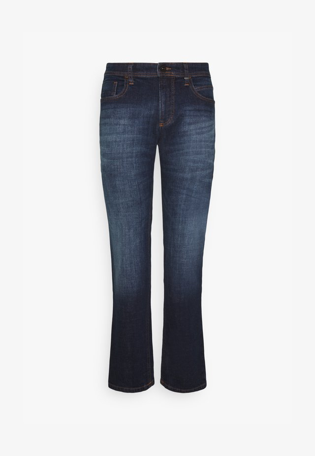 REGULAR - Straight leg jeans - dark blue used
