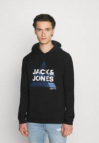 Jack & Jones - JCOSTAR HOOD - Sweatshirt - black - 0