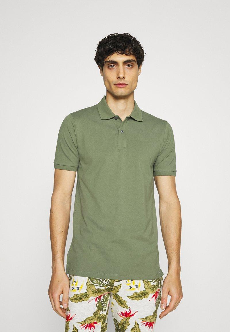 OLYMP - Polo shirt - graugrün