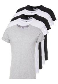 5 PACK - Jednoduché triko - white/black/grey