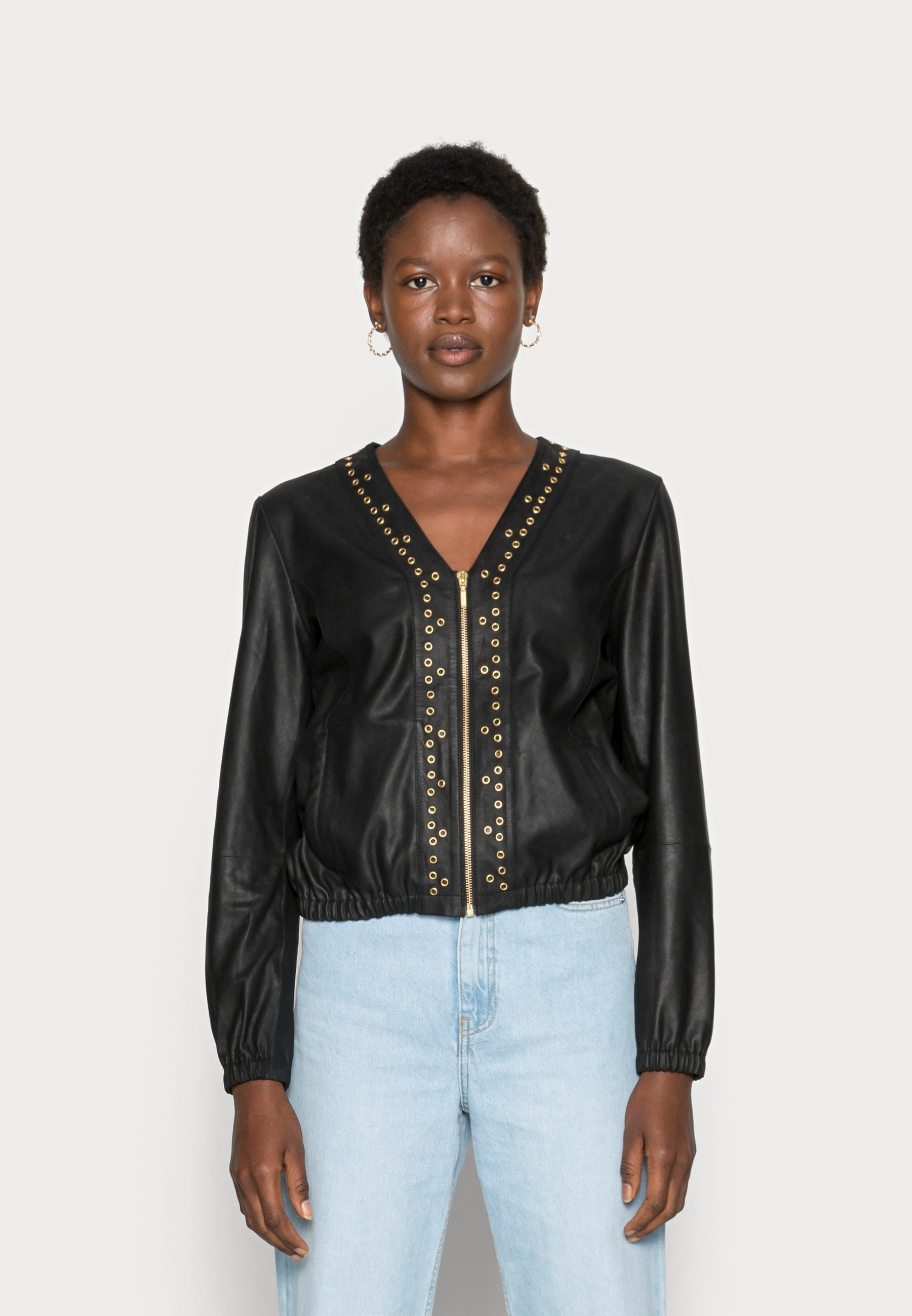 Women CARDIGAN - Leather jacket