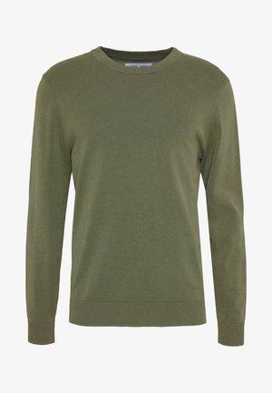 FERRIS CREW NECK - Stickad tröja - deep lichen green
