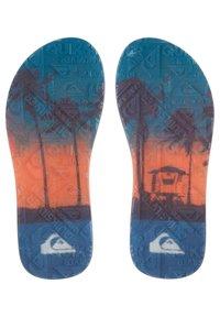 Quiksilver - T-bar sandals - black/black/blue - 2
