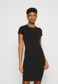 Cotton On - ESENTIAL SHORT SLEEVE BODYCON MIDI DRESS - Shift dress - black - 0
