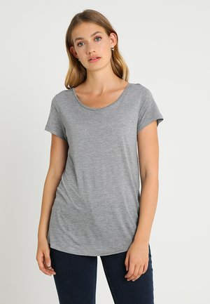 LUXE - Jednoduché triko - light heather grey