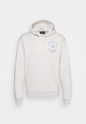 HOODED WITH CHEST ARTWORK - Sweater - grey melange