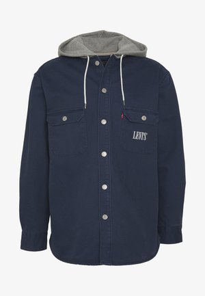 HOODED JACKSON OVERSHIRT - Summer jacket - dress blues