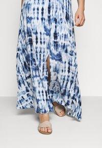 Lauren Ralph Lauren Woman - NIKLOS SHORT SLEEVE CASUAL DRESS - Maxi dress - blue - 3