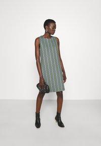 M Missoni - DRESS - Denní šaty - powderblue/milk/black/spearmint - 1