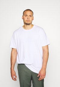 Cotton On - ESSENTIAL LONGLINE CURVED 3 PACK - Basic T-shirt - white - 1