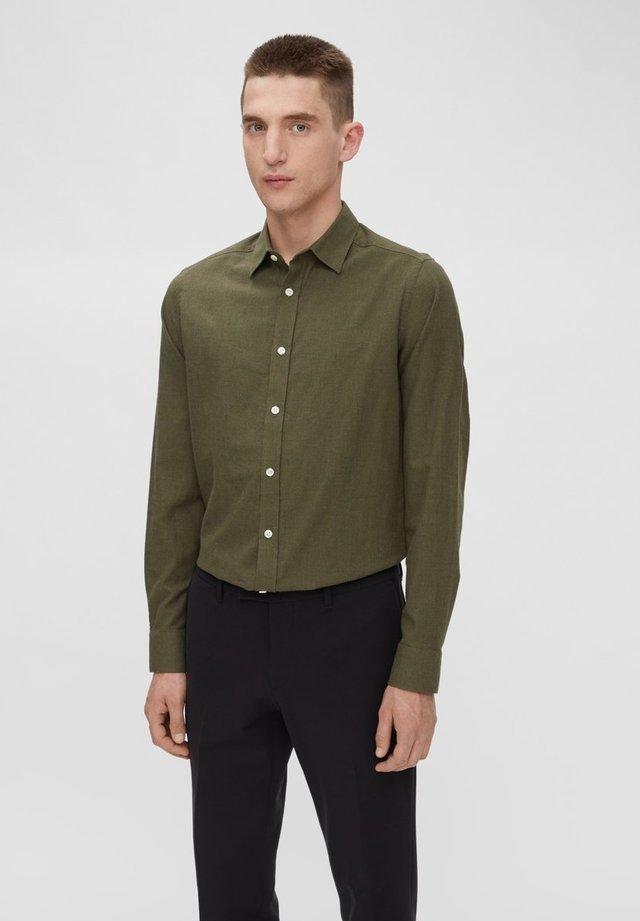 Hemd Light Flannel Slim - Shirt - moss green