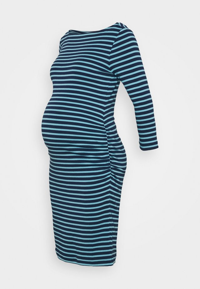 MODERN BOATNECK DRESS - Vestito di maglina - elysian blue stripe
