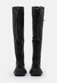 Buffalo London - LONNIE - Kozačky nad kolena - black - 3