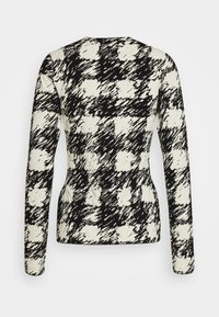 Proenza Schouler White Label - GINGHAM LONG SLEEVE - Neule - black/cream - 1