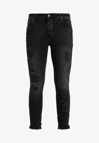 SIKSILK - RAW CUFF CROPPED - Jeans Skinny Fit - black - 3