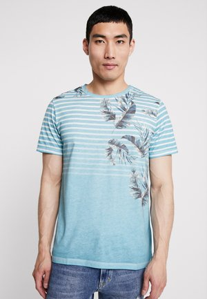 JORSTRIPE KALEX TEE CREW NECK - T-shirt con stampa - light blue