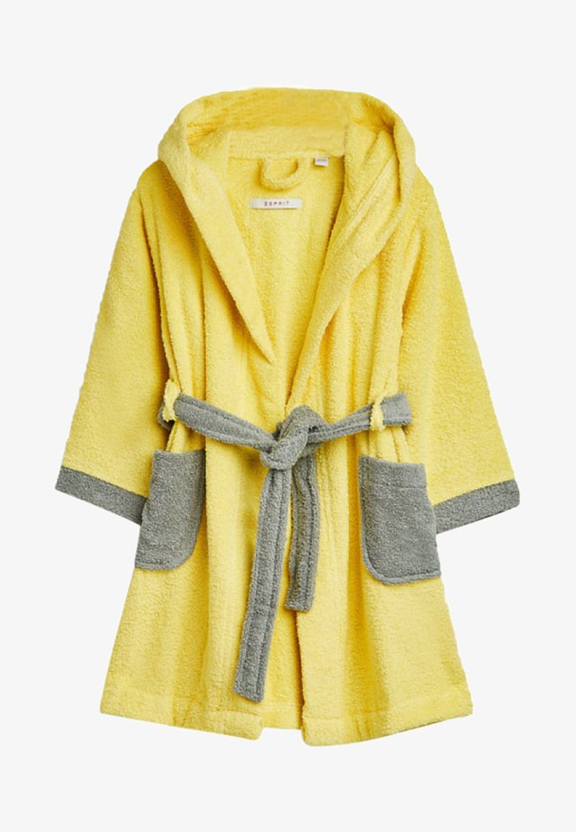 Dressing gown - yellow/grey