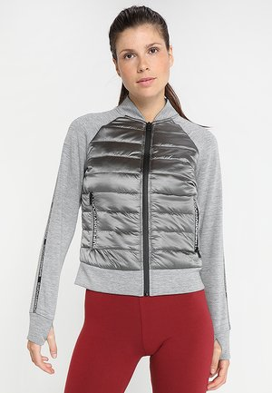 CORE GYM TECH HYBRID BOMBER - Giacca outdoor - city grey marl