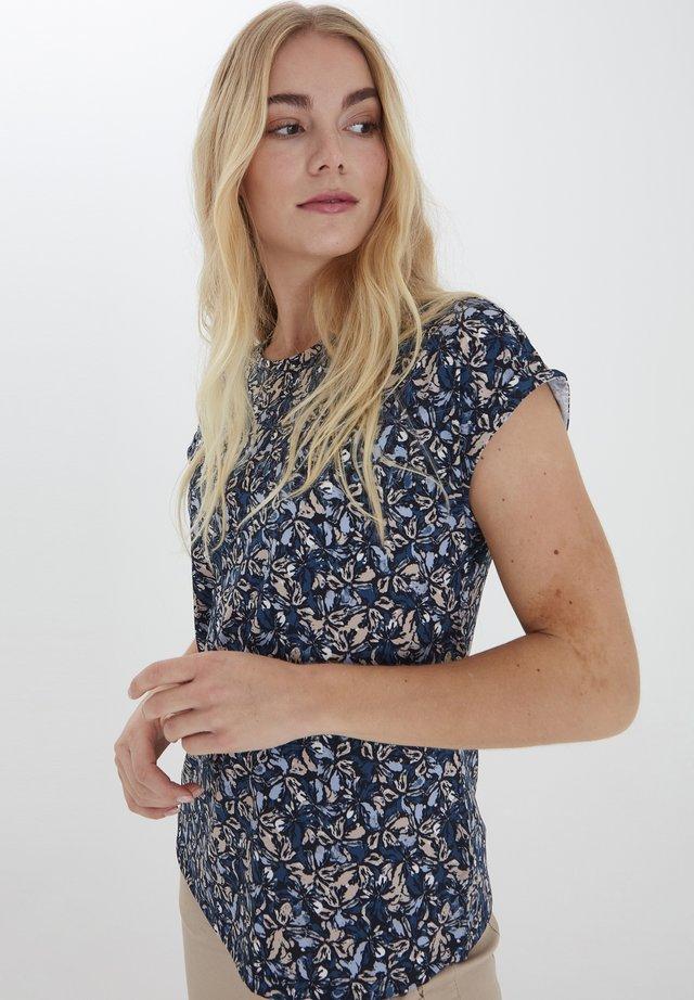 Printtipaita - navy blazer mix
