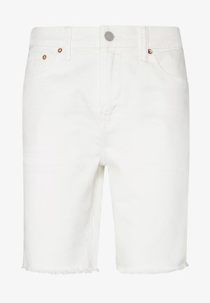 CLEAN INIDGO CUTOFF SHORTS - Denim shorts - air white