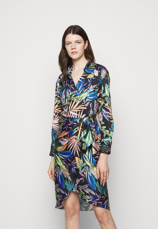 JORDAN TROPICAL PALM DRESS - Korte jurk - black