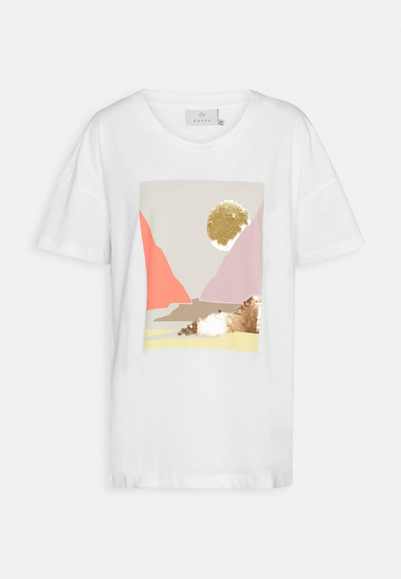 Kaffe - DREANA - Print T-shirt - optical white
