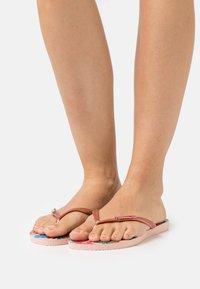 Havaianas - SLIM FIT TROPICAL - T-bar sandals - ballet rose/pink retro metallic - 0