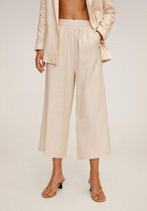 TINA-H - Spodnie materiałowe - crudo