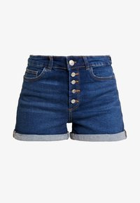 ONLY - ONLHUSH BUTTON BOX - Shorts di jeans - medium blue denim - 3