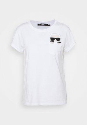 IKONIK KARL POCKET TEE - Print T-shirt - 100 white