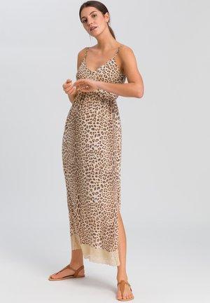 Jersey dress - sand varied