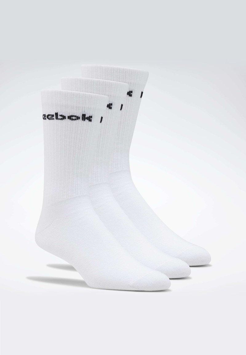 Reebok - ACTIVE CORE CREW SOCKS 3 PAIRS - Calzettoni - white