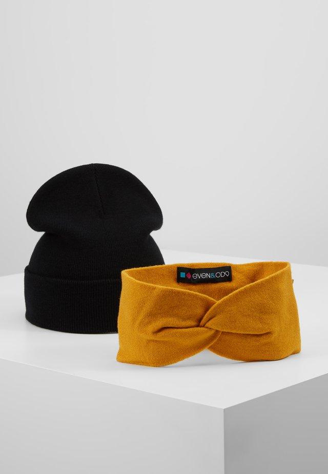 SET 2 PACK - Panta/korvaläpät - mustard/black