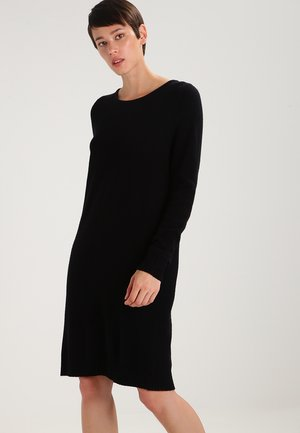 VIRIL DRESS - Abito in maglia - black