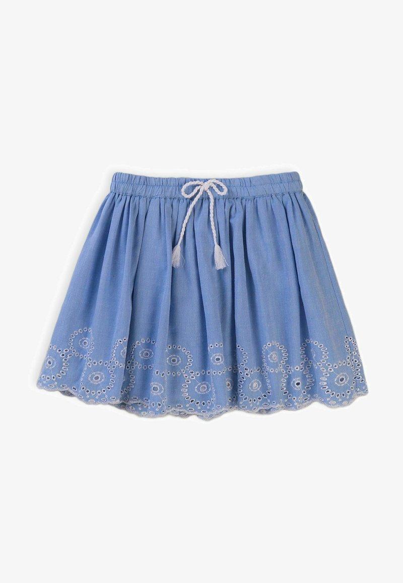 MINOTI - Pleated skirt - light blue