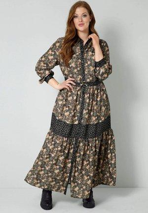 Maxi dress - schwarz,schilf