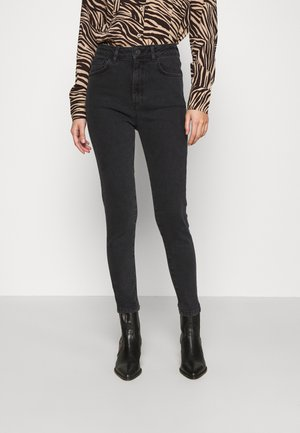 HIGH WAIST - Jeans Skinny Fit - black wash